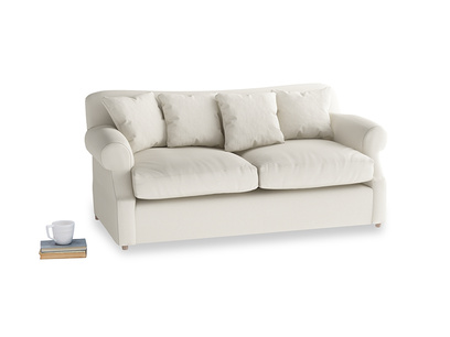 Medium Crumpet Sofa Bed in Chalky White Clever Softie