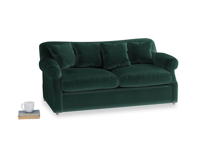 Medium Crumpet Sofa Bed in Dark green Clever Velvet