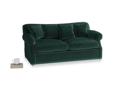 Medium Crumpet Sofa Bed in Dark green Clever Velvet
