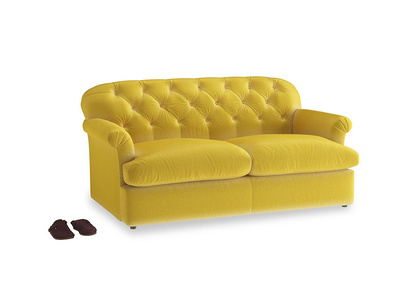 Medium Truffle Sofa Bed in Bumblebee clever velvet