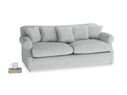 Large Crumpet Sofa Bed in Pebble vintage linen