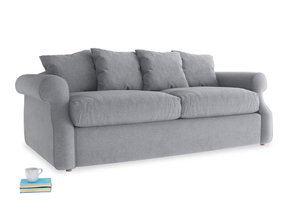 Medium Sloucher Sofa Bed in Dove grey wool
