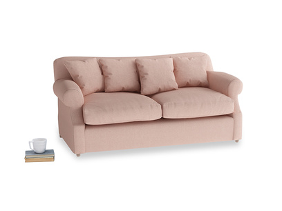 Medium Crumpet Sofa Bed in Pale Pink Clever Woolly Fabric