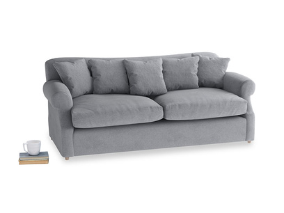Large Crumpet Sofa Bed in Dove grey wool