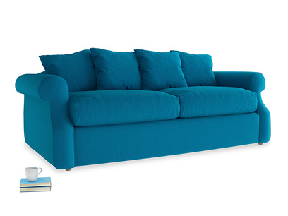 Medium Sloucher Sofa Bed in Bermuda Brushed Cotton