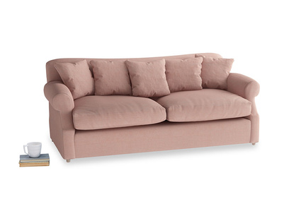 Large Crumpet Sofa Bed in Tuscan Pink Clever Softie