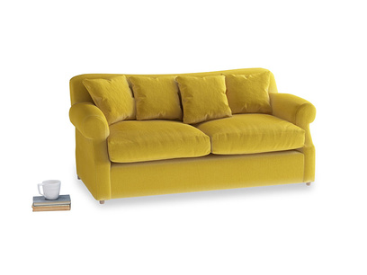 Medium Crumpet Sofa Bed in Bumblebee clever velvet