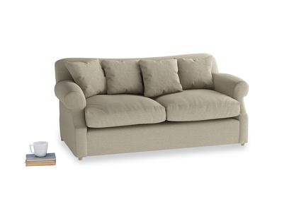 Medium Crumpet Sofa Bed in Jute vintage linen