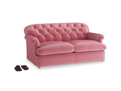 Medium Truffle Sofa Bed in Blushed pink vintage velvet
