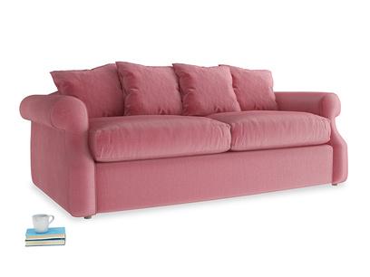 Medium Sloucher Sofa Bed in Blushed pink vintage velvet