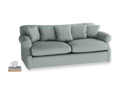 Large Crumpet Sofa Bed in Sea fog Clever Woolly Fabric