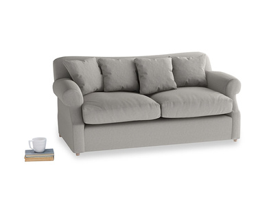 Medium Crumpet Sofa Bed in Wolf brushed cotton