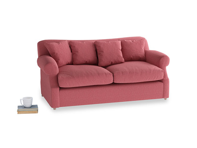 Medium Crumpet Sofa Bed in Raspberry brushed cotton