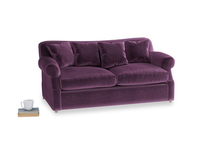 Medium Crumpet Sofa Bed in Grape clever velvet