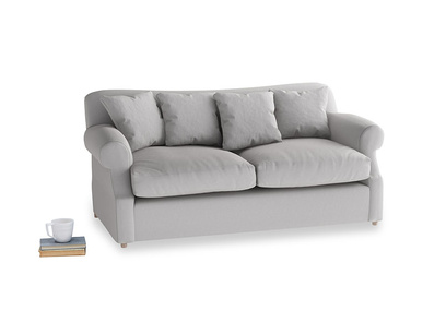 Medium Crumpet Sofa Bed in Flint brushed cotton