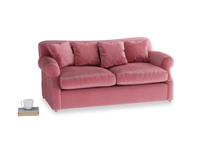 Medium Crumpet Sofa Bed in Blushed pink vintage velvet