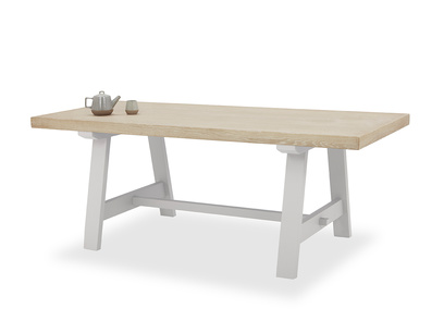 Trestle kitchen table in Pale Grey