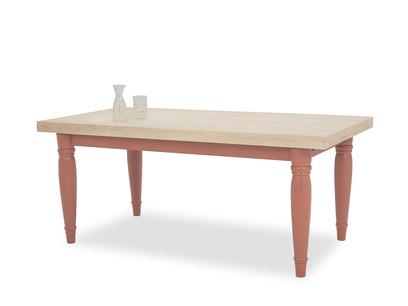 Scullery kitchen table in Earthy Red