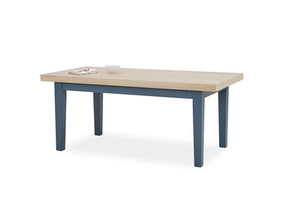 Pantry in heritage blue dining table with prop