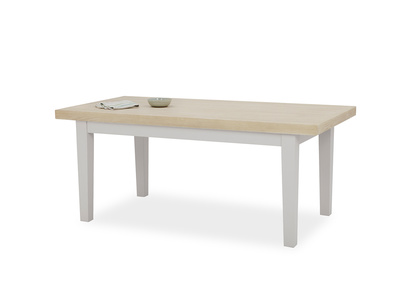 Pantry in pale grey oak table top front detail with prop