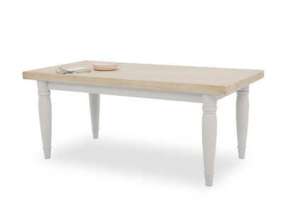 Scullery kitchen table in Pale Grey