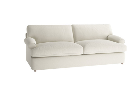 Oat Brushed Cotton Slowcoach sofa bed LA