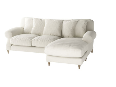 Oat Brushed Cotton Crumpet L LH Chaise
