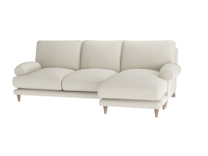 Oat Brushed Cotton Slowcoach LA LH Chaise