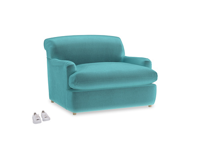 Pudding Love Seat Sofa Bed in Belize clever velvet