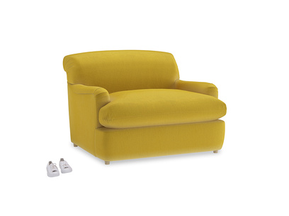 Pudding Love Seat Sofa Bed in Bumblebee clever velvet