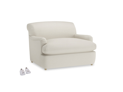 Pudding Love Seat Sofa Bed in Chalky White Clever Softie