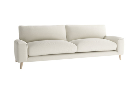 Oat Brushed Cotton Strudel sofa LA