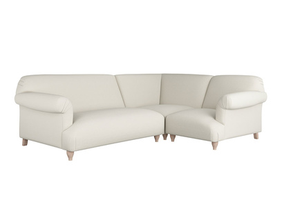 Oat Brushed Cotton Souffle Corner Sofa LA