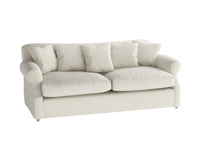 Oat Brushed Cotton Crumpet sofa bed LA