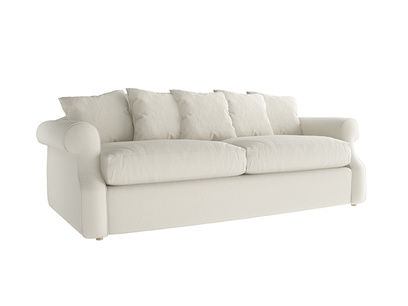 Oat Brushed Cotton Sloucher Large Sofabed