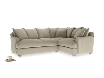 Large Right Hand Smooch Corner Sofa in Jute vintage linen