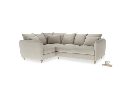 Large Left Hand Podge Corner Sofa in Thatch house fabric