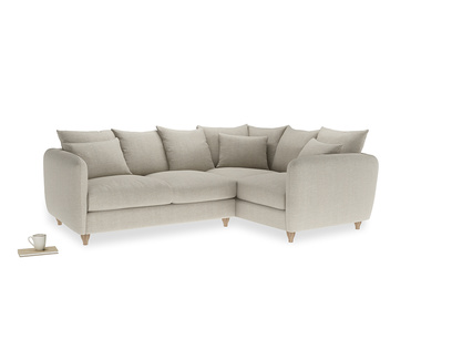 Large Right Hand Podge Corner Sofa in Thatch house fabric