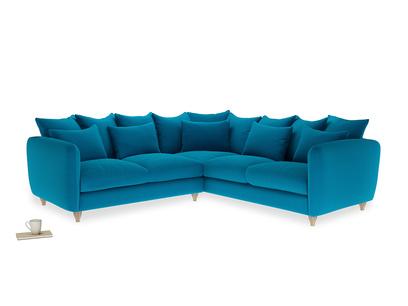 Even Sided Podge Corner Sofa in Bermuda Brushed Cotton