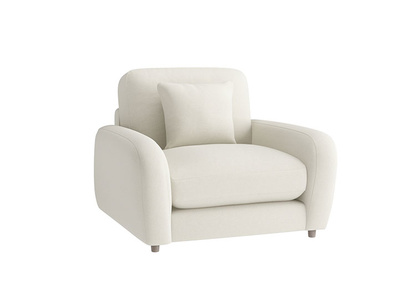 Oat Brushed Cotton Easy squeeze Armchair