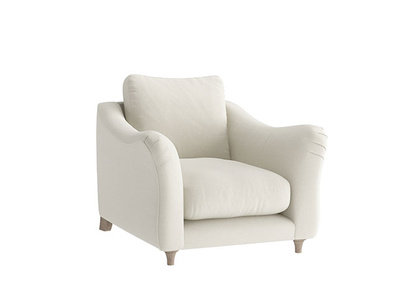 Oat Brushed Cotton Bumpster Armchair