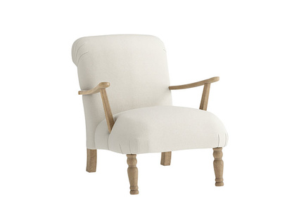 Oat Brushed Cotton Brew Armchair