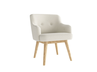 Oat Brushed Cotton Smudge Chair