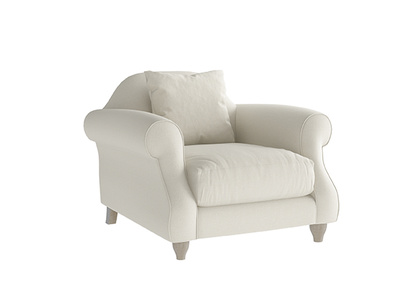 Oat Brushed Cotton Sloucher Armchair