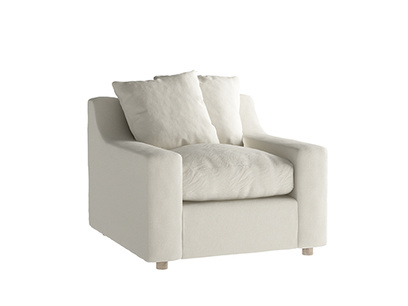 Oat Brushed Cotton Cloud Armchair