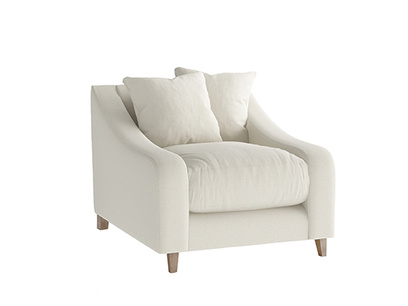 Oat Brushed Cotton Oscar Armchair