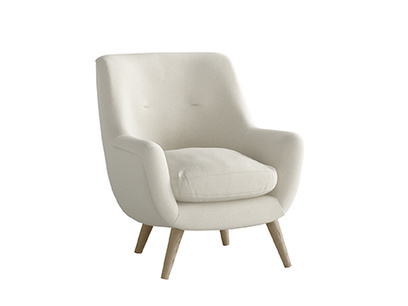 Oat Brushed Cotton Berlin Armchair