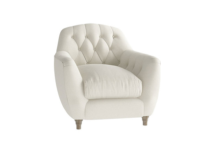 Oat Brushed Cotton Butterbump Armchair
