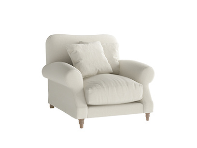 Oat Brushed Cotton Crumpet Armchair