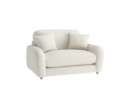Oat Brushed Cotton Easy Squeeze Loveseat